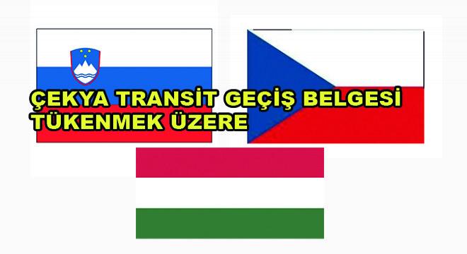 Çekya Transit Geçiş Belgeleri Tükenmek Üzere