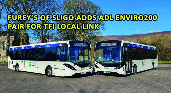Furey's of Sligo Adds ADL Enviro200 Pair for TFI Local Link