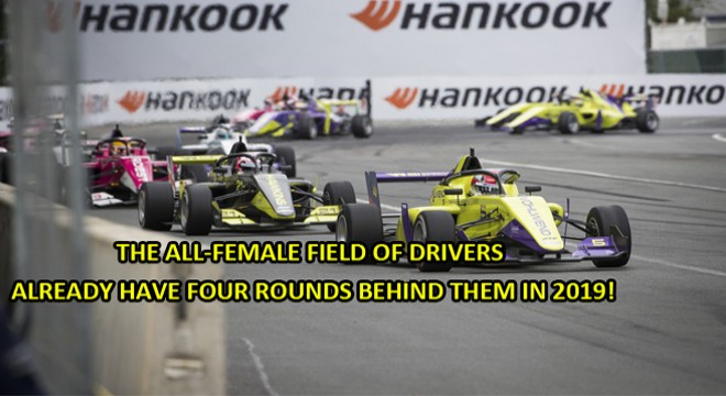 A well-balanced Finn in the W Series on Hankook race tyres