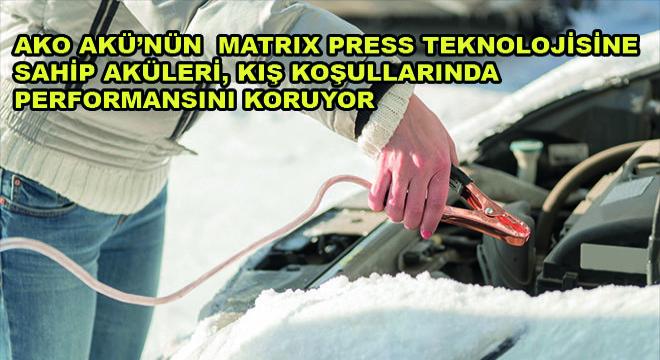 Ako Akü'nün  Matrix Press Teknolojisine Sahip Aküleri Kış Koşullarında Performansını Koruyor