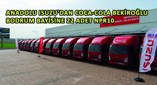 Anadolu Isuzu'dan Coca-Cola Bekiroğlu Bodrum Bayisine 22 Adet NPR10