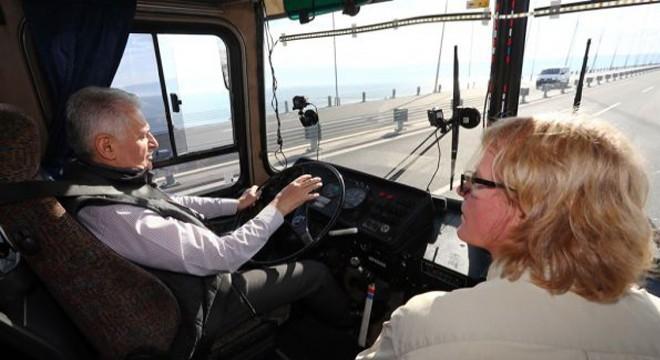 Başbakan Yıldırım Otobüs Kullandı