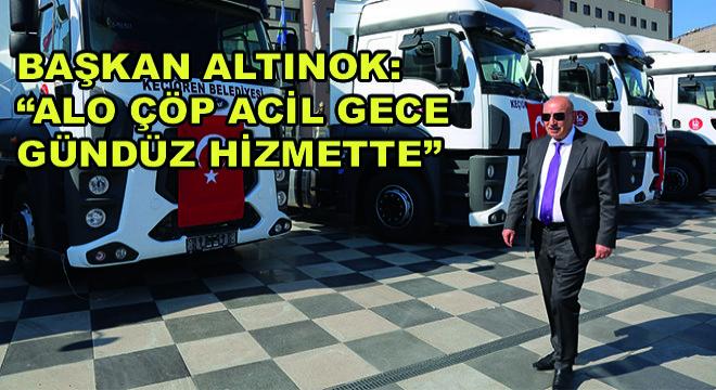 Başkan Altınok: Alo Çöp Acil Gece Gündüz Hizmette