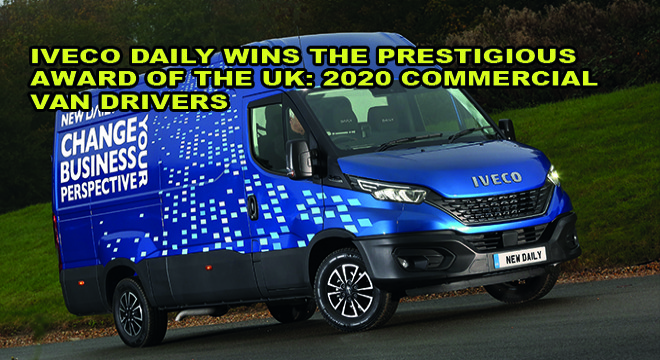 Iveco Daily Wins The Prestigious Award Of The Uk : 2020 Commercial Van Drivers