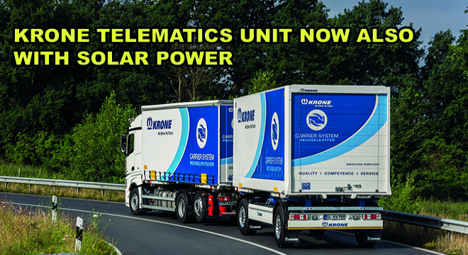 Krone Telematics Unit Now Also With Solar Power