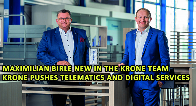 Maximilian Birle New in The Krone Team Krone Pushes Telematics and Digital Services