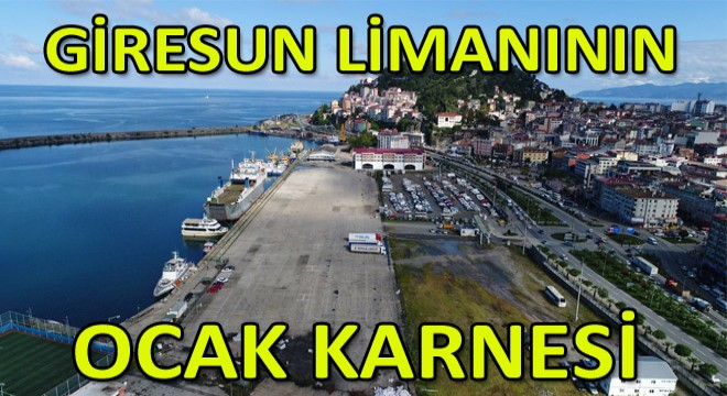 Ocak Ayında Giresun Limanından 58 Bin Ton Yükleme Yapıldı