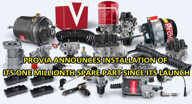 Provia Announces Installation Of its One Millionth Spare Part Since its Launch