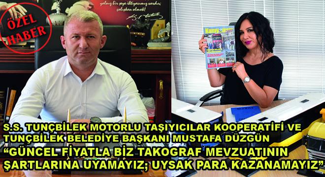 S.S.Tunçbilek Motorlu Taşıyıcılar Kooperatifi ve Tunçbilek Belediye Başkanı Mustafa Düzgün;