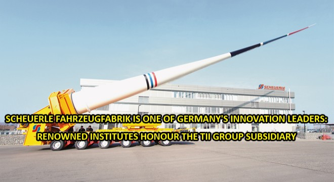 Scheuerle Fahrzeugfabrik is one of Germany's innovation leaders