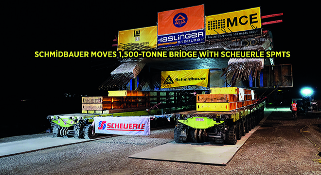 Schmidbauer Moves 1,500-Tonne Bridge With SCHEUERLE Spmts