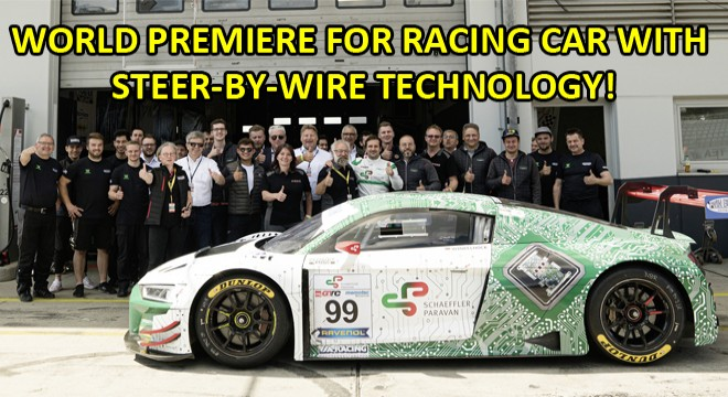 World Premiere For Racing Car With Steer-By-Wire Technology